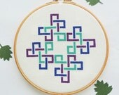 "modern cross stitch ""Kells Corners"". modern cross stitch pattern. Celtic cross stitch pattern. geometric pattern instant download PDF"