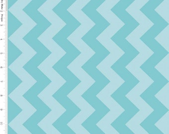 Medium Chevron Aqua Blue Tone on Tone by Riley Blake - C380-24-AQUA