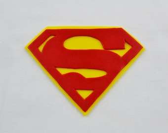 Edible Superman Inspired Cake Topper, Super Hero, Fondant Cake topper, Superman Cake