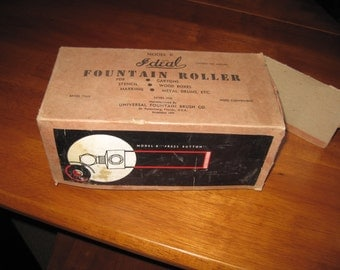 rEDUCED !Vintage fountain roller for stencils,  by Universal Fountain Brush co Ideal