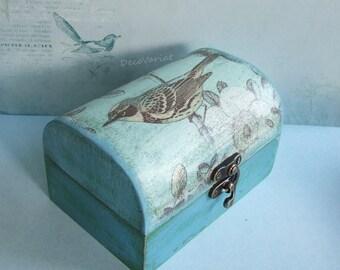 bird box/trinket box/jewelry box/keepsake box/trunk