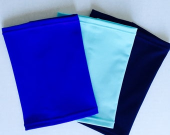 Beautiful Blues 3 pack picc line covers-turquise blue, royal blue and navy covers to cheer you up when feeling blue!