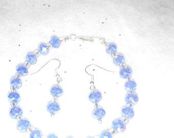 Glass Sapphire bracelet set