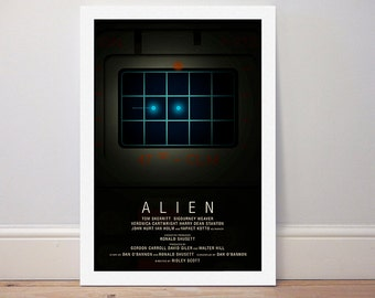 Movie poster 'Alien' 1979 alternate film poster colour print