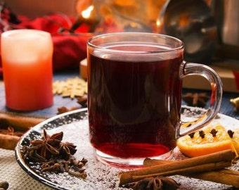 Spice blend for diy Christmas wine,Mulled wine, cider or homemade Liqueur, coworker gift, winter wedding favor