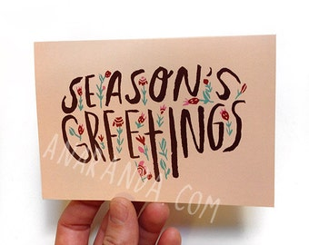 Set of 6 - Season's Greetings - Greeting cards