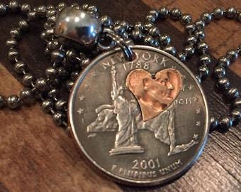 I Love New York Quarter Necklace