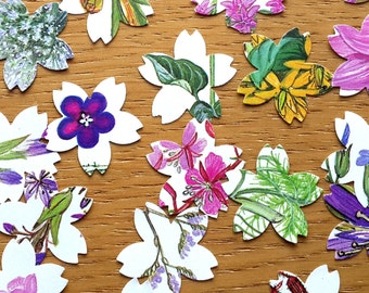 Floral Table Confetti -  Flower / Floral Book Table  Confetti - Flower Shaped Wedding Table Decor