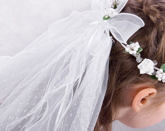 Communion wreath with a veil-communion wreath-communion wreath with a veil in dots
