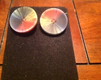 Rainbow Button Earring