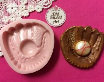 Big Baseball Glove Silicone Mold Cake Decorating Sugar Flower FDA APPROVED
