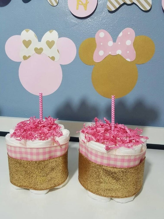 Pink and gold minnie mouse baby shower decorations mini