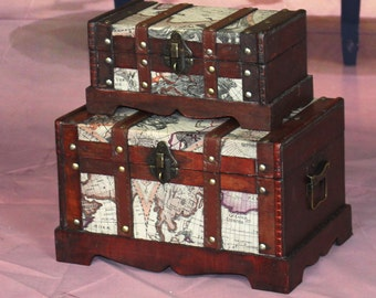 Treasure Chest with Map