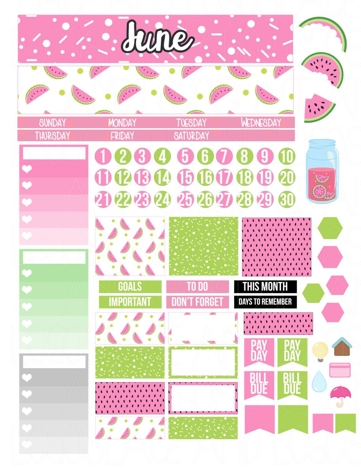 This is an image of Stupendous Planner Printable Stickers