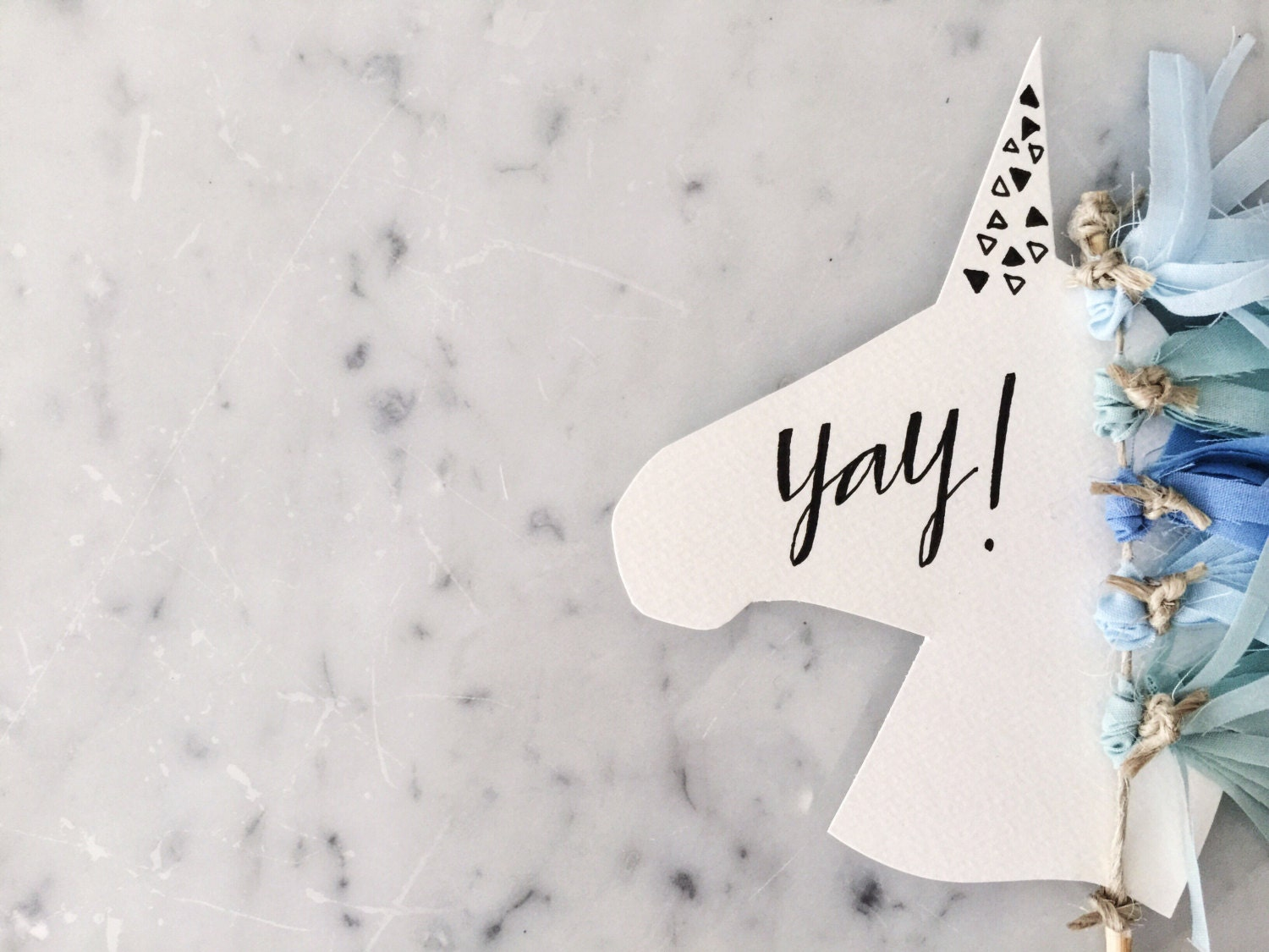 Unicorn cake topper modern calligraphy custom hand