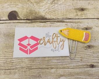 Yellow Pencil Paper Clip