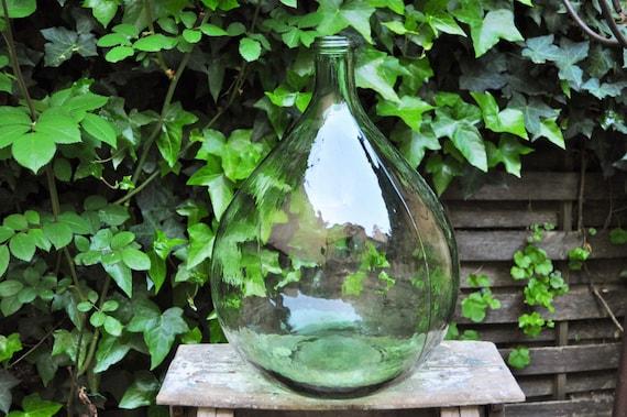 10l dame jeanne demi john large green glass bottle french. Black Bedroom Furniture Sets. Home Design Ideas
