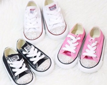Baby Toddler Swarovski Rhinestone Converse