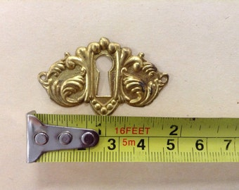 Antique Brass Key Escutcheons