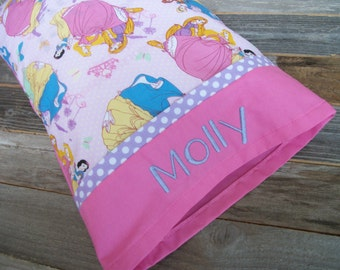 Personalized Pink Princess Toddler/Travel Size Pillow