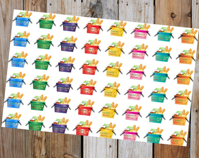 Groceries Planer Stickers