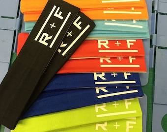12  RF R+F Cotton Headbands Assorted Colors - Rodan and Fields Stretch Elastic Yoga Fashion Headband   Teens Women Girls Head BandHair Wrap