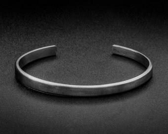 Sterling Silver Cuff Bracelet-5mm-Oxidized Silver Cuff-Grange cuff bracelet-Men Silver cuff bracelet-Classic cuff bracelet-Men Silver bangle