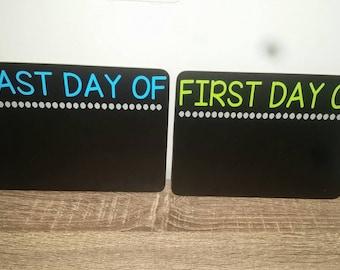 1st day of school chalkboard, back to school board, first day of school sign, last day of school board, REVERSIBLE