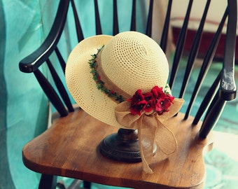 Women's summer straw hat-Straw Hat -sun hat Beach hat