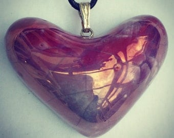 Purple heart pendant.