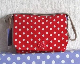 Polka Dot Handmade Small Messenger Bag