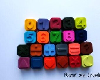Numbers Crayon Tub