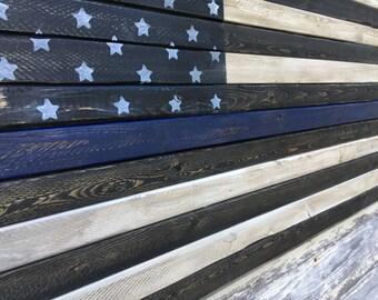 Rustic Wood American Flag Art