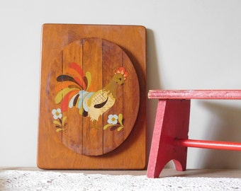Chicken Painting on Wood
