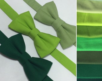 Green bow tie. Baby bow tie. Boy bow tie. Adult bow tie.