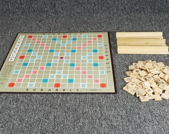 Selchow & Righter Scrabble A Crossword Board Game C.1953