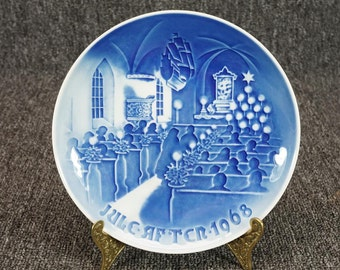 Vintage B&G Christmas In Church Jule After 1968 Collectors Plate C.1968