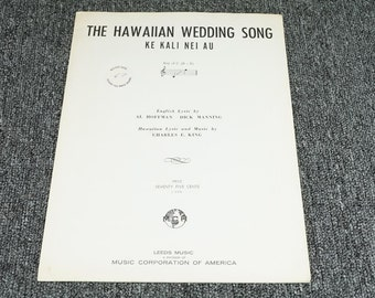 The Hawaiian Wedding Song By Charles E. King C. 1958