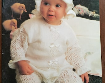 Baby knitting pattern no.1100 more mischief Patons birth to 2 yrs 14 designs vintage All plys