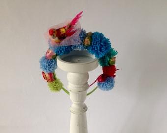 Little bird and rosebud headband