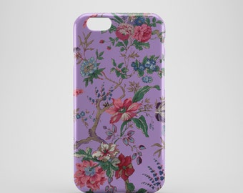 Purple Floral Phone case,  iPhone X Case, iPhone 8 case,  iPhone 6s,  iPhone 7 Plus, IPhone SE, Galaxy S8 case, Phone cover, SS132c
