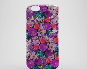 Pink Floral Phone case,  iPhone X Case, iPhone 8 case,  iPhone 6s,  iPhone 7 Plus, IPhone SE, Galaxy S8 case, Phone cover, SS143d