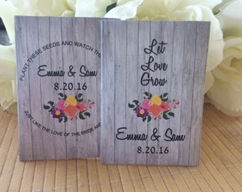 wood wedding gift, wood favors, floral wedding, wood floral, wood flowers, floral arrangement, pallet wood art, wood seeds, wood packets