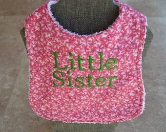 Little Sister Bib and Burp Cloth
