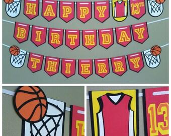 Basketball Birthday Banner, Basketball Birthday Party, NBA Birthday Banner, NBA Birthday Party