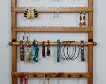 Wall Mounted, Jewelry Organizer, Earring Holder, Bracelets Display, Jewelry Organizer, Jewelry Display, Bracelet holder, Earring Organizer