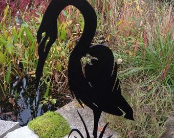 Heron Garden Stake