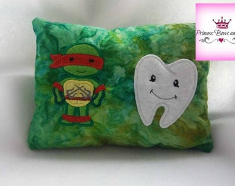 Turtles Tooth fairy pillow