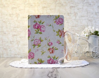 A6 notebook Floral journal Blank notebook roses Gift for girl Flowers journal a6 Fabric notebook Blank book Girls diary Journal for girls