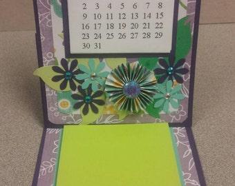 Calendar - purple & green